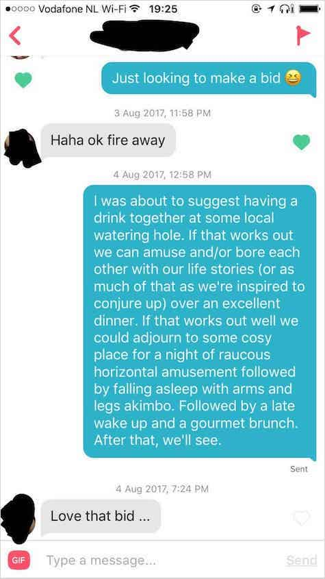 tinder pickup lines example 2