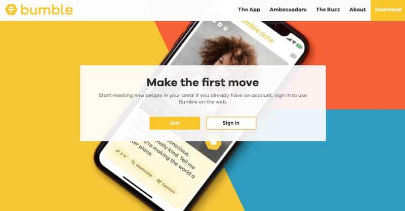 Bumble, a Tinder alternative app