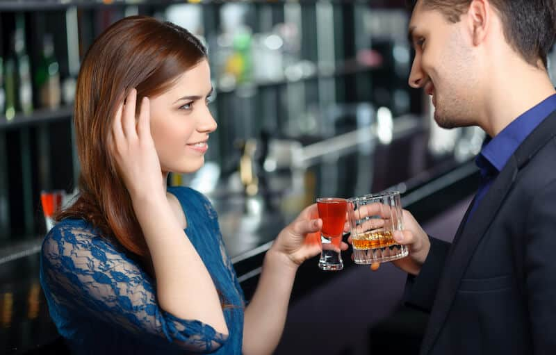 Girl attracted to man with pheromones