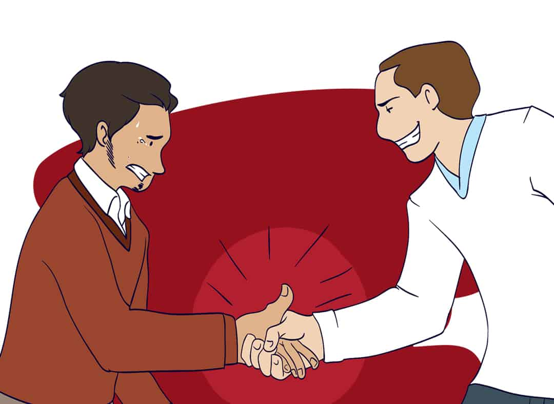 How to have a great handshake step 4