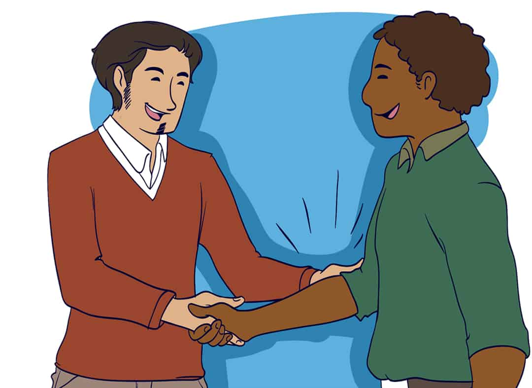 How to have a great handshake step 5