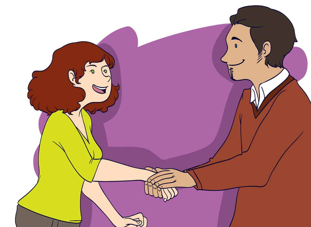 How to have a great handshake step 6
